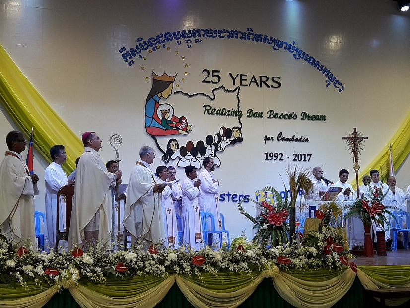 Bishop Olivier presiding the Mass of the FMA Cambodia 25th anniversary.jpg